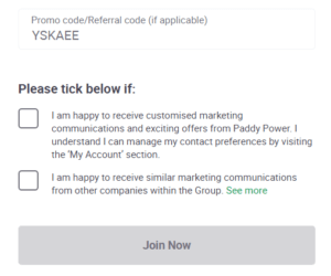 paddy power promo code 2021 20 risk