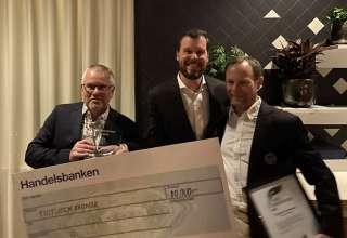 Torbjörn Pettersson, Sala-Heby, Christofer Palmlund, VD Jordelit, och Kristian Hägglund, ordförande SGA.