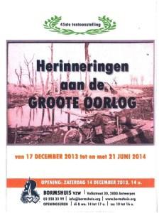 Bormshuis De Groote Oorlog affiche