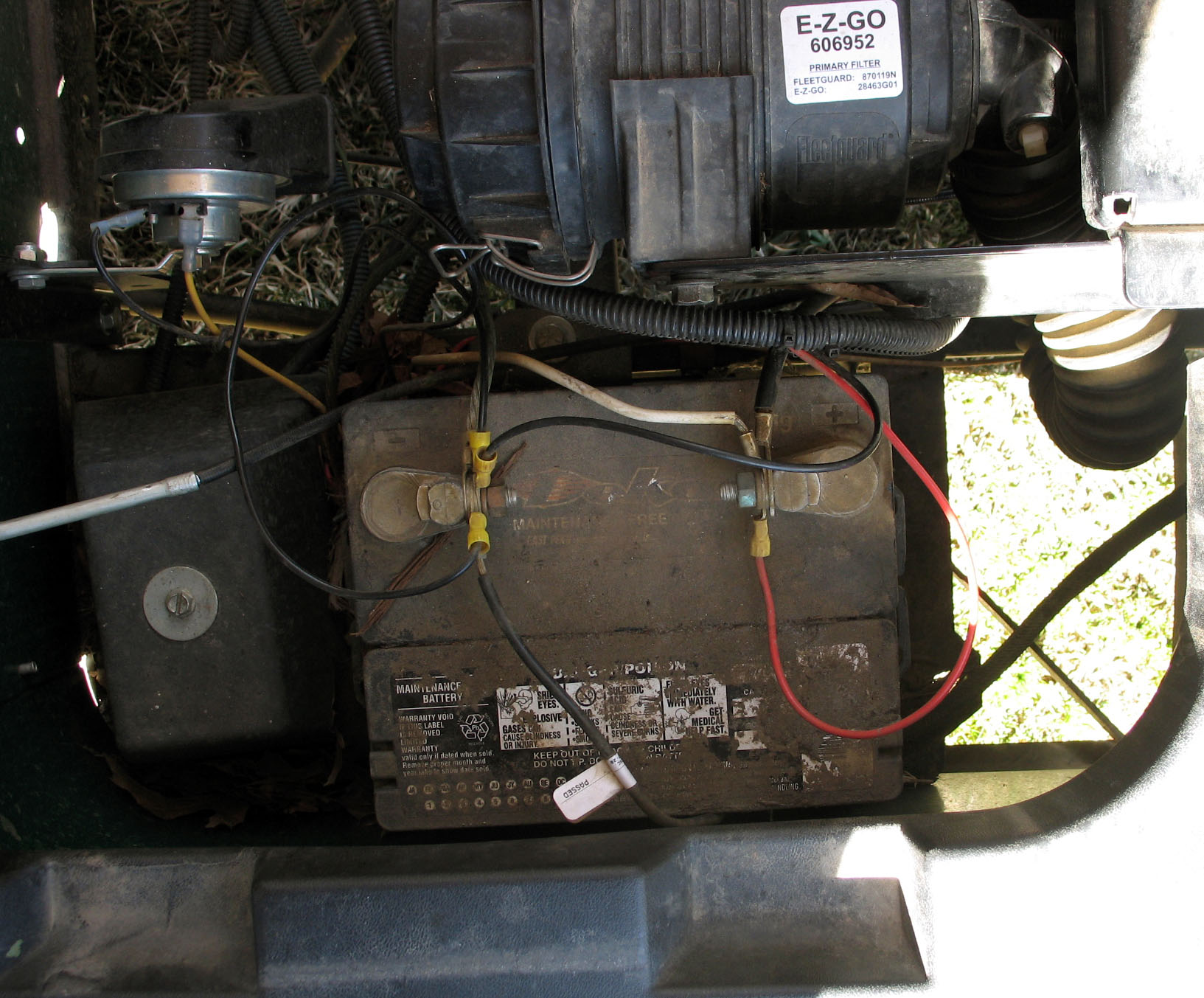 Yamaha Golf Cart Battery Wiring Diagram : Ezgo battery wiring diagram ez go