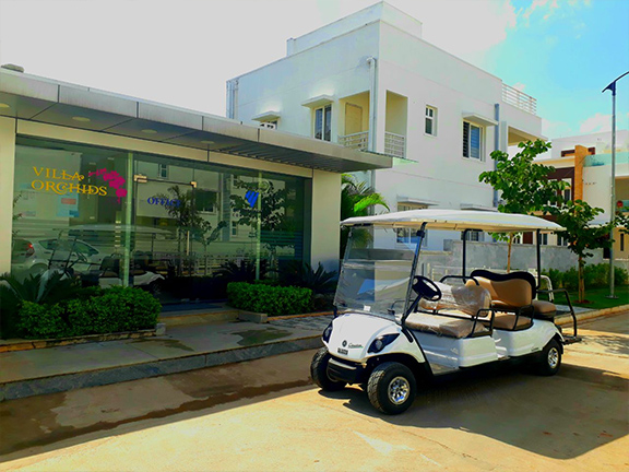 Electric Golf Cart at Residential Communities