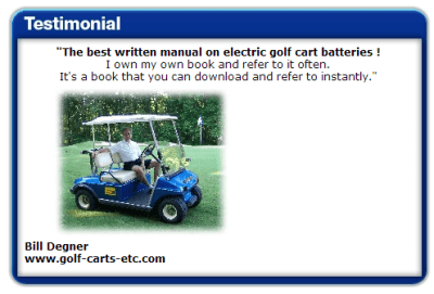 Golf Cart Battery Maintenance Guide Testimonial