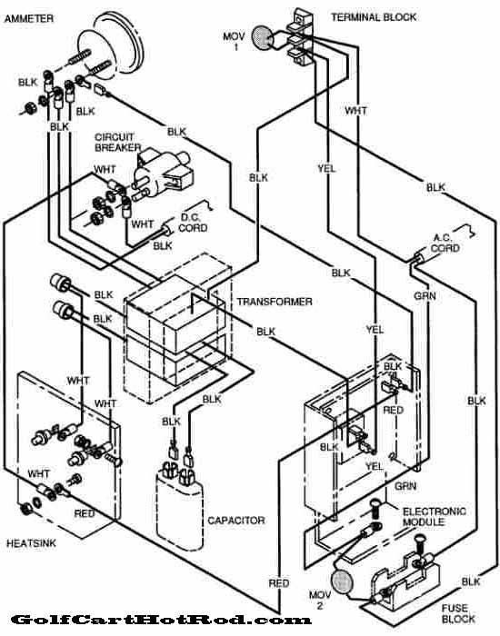 ezgo golf cart charger wiring diagram chart