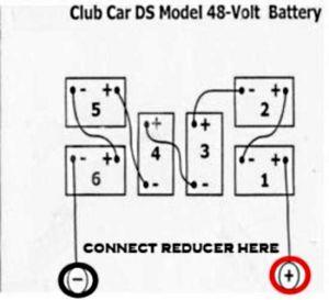 48 volt to 12 volt reducer hook up  Golf Cart Hot Rod