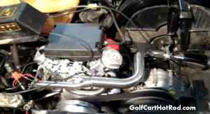 Video of Golf Cart with a 24hp Honda Vtwin conversion upgrade