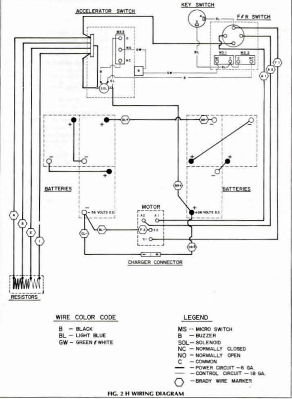 wiring diagram for 1981 and older ezgo models with resistor