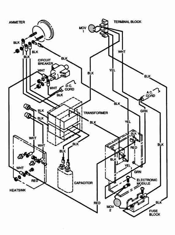 ezgo charger wiring diagram  wiring diagram circuit