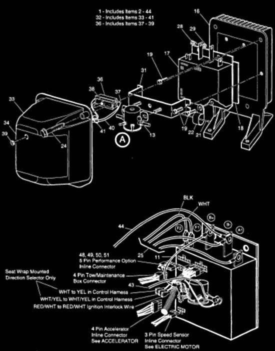 wiring diagram for 1995 36 volt ezgo golf cart golf cart