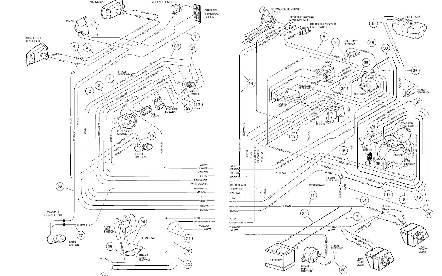Club Car Wiring Diagram
