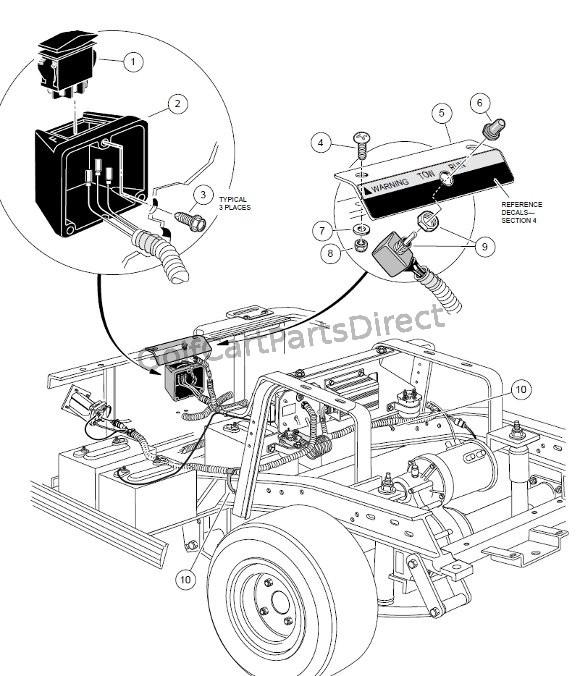 gas club car wiring diagram for 2000