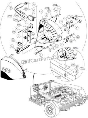Wiper Switch  36V VGlide  Club Car parts & accessories