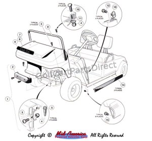 19921996 Club Car DS Gas or Electric  Club Car parts & accessories