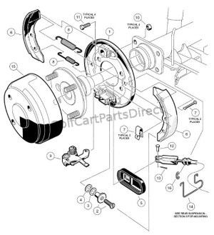 Brake Assembly  Club Car parts & accessories