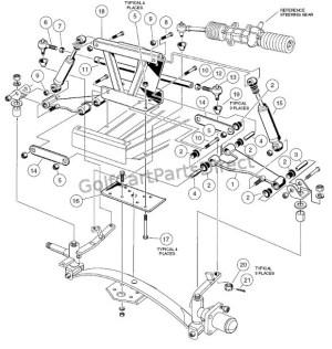 Front Suspension  Upper  Club Car parts & accessories
