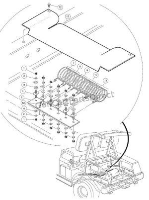 Resistor & Board Assembly  36V  Club Car parts & accessories