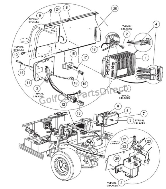 club car golf cart volt battery wiring diagram wiring diagrams ez go gas golf cart wiring diagram 86 club car