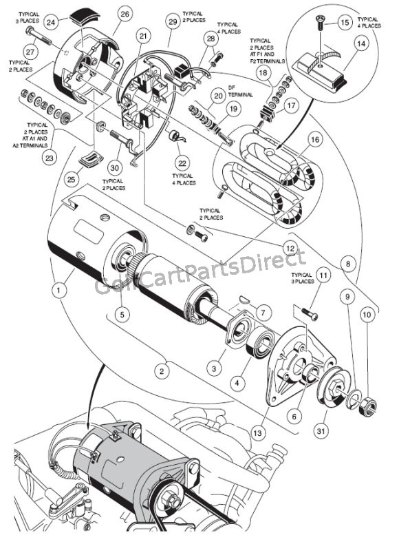 Golf Cart Starter Generator Wiring Diagram Wiring Diagram For Club