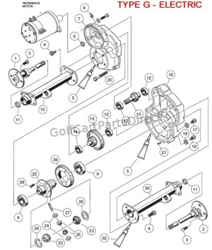 Transaxle  Type G Electric  Club Car parts & accessories