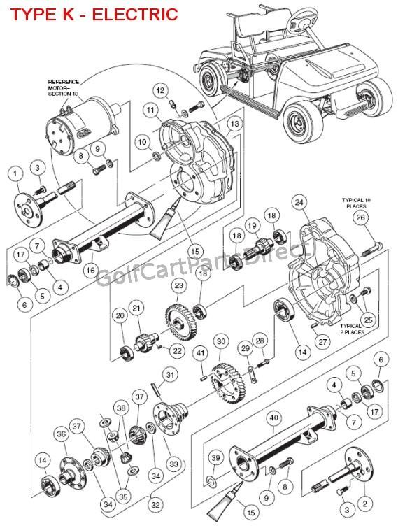 1997 Ezgo Electric Golf Cart Parts
