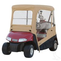 Drivable Enclosure with Zip-off Windshield - EZGO RXV