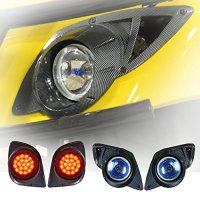 Madjax 02-022 Yamaha G29/Drive Carbon Fiber Headlight Kit for 2007-Up Gas and Electric Golf Carts