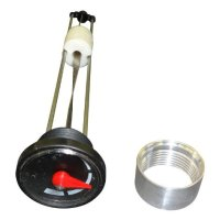 SPUN ALUMINUM GAS TANK 12 INCH SITE GAUGE WITH WELD-ON ALUMINUM MOUNTING BUNG