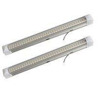 12v-ledlight 72-LEDs Bright Interior Light Bar with Switch - RV Strip Light White Kitchen - 12 Volt Under Cabinet Light Bar Hardwire