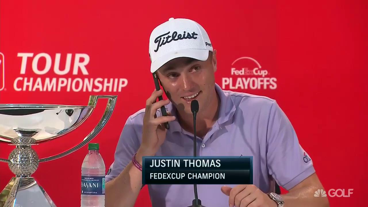 Image result for justin thomas press conference tour championship