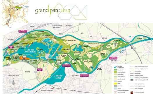 Grand parc agréable de 780 hectares pour faire une promenade journalière quand on habite près.