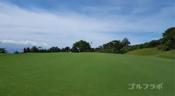 凾南ゴルフ倶楽部の15番ホールのグリーン