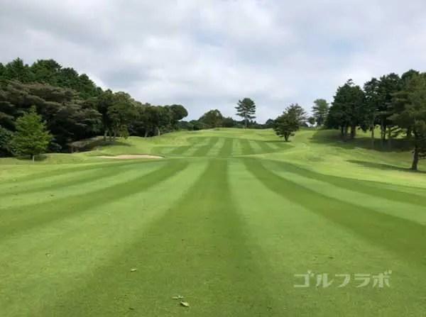 凾南ゴルフ倶楽部の6番ホールの3打目
