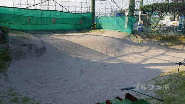 杉田ゴルフ場のバンカーの練習場