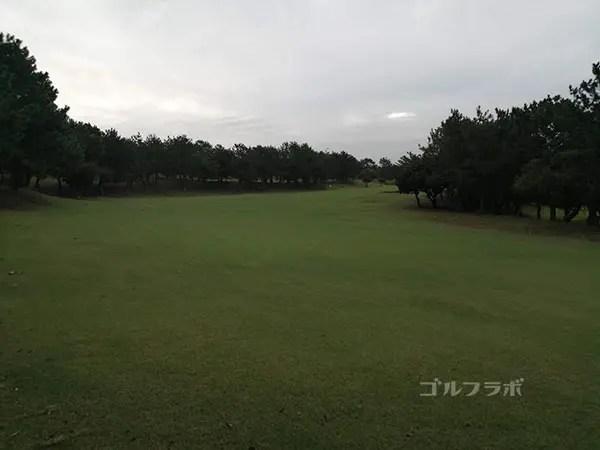 鎌倉パブリックゴルフ場の15番ホールのレディースティ