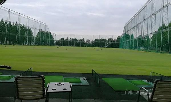柳橋ゴルフ練習場のフェアウェイ