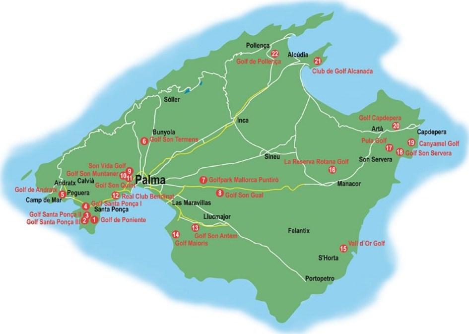 Golfen auf Mallorca