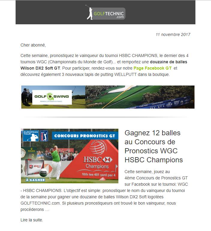 Publicité golf