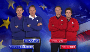 Match 3; Poulter & Gallacher vs Spieth & Reed