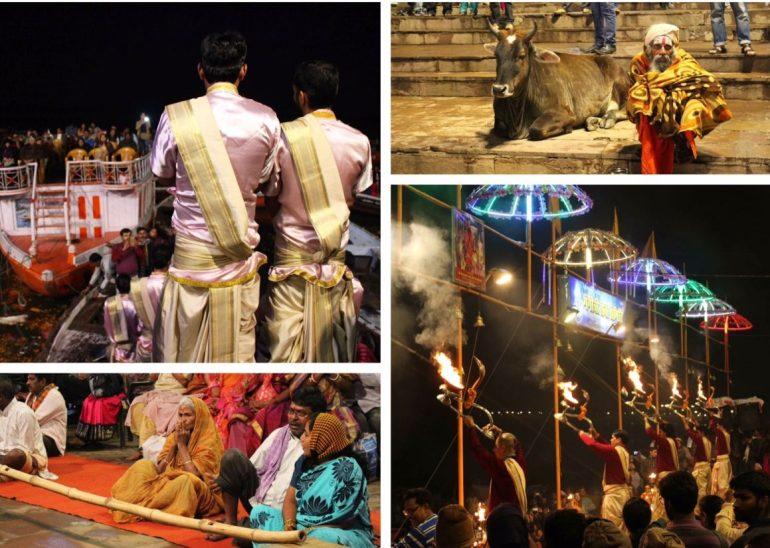 Aarti ceremonie India Varanasi