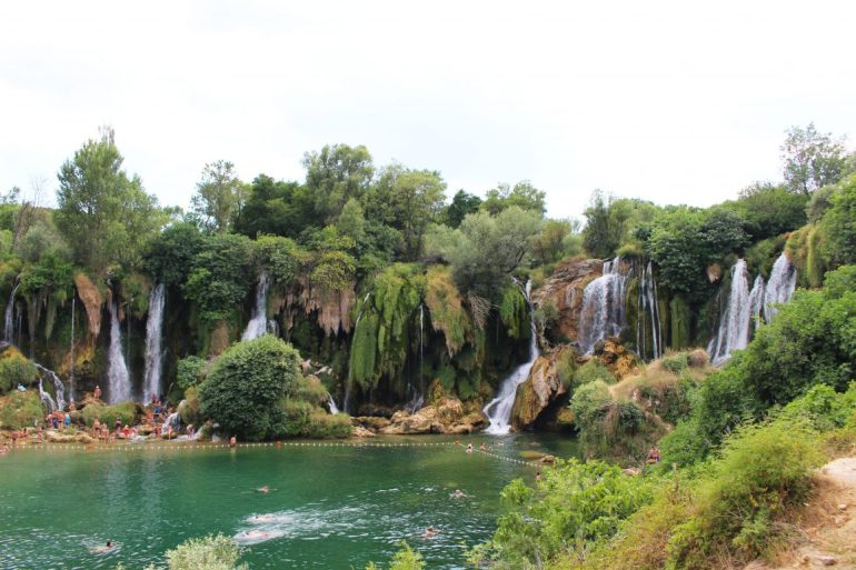 Kravica waterfal Bosnia Mostar