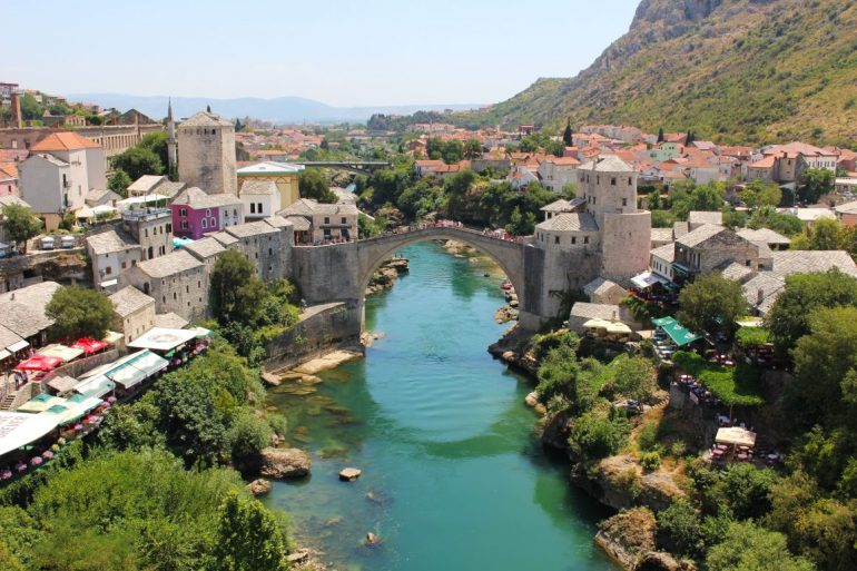 Mostar view from Mosque Bosnia