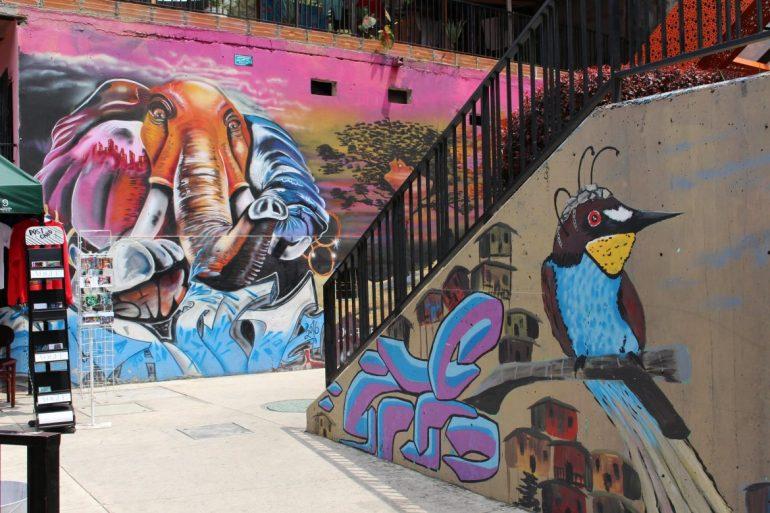 Street art in Medellin Colombia