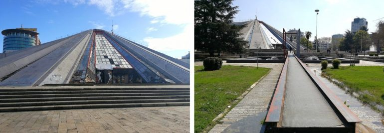 Piramide van Tirana Albanie