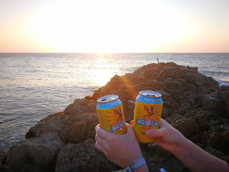 Sunset drinks Colombia Cartagena
