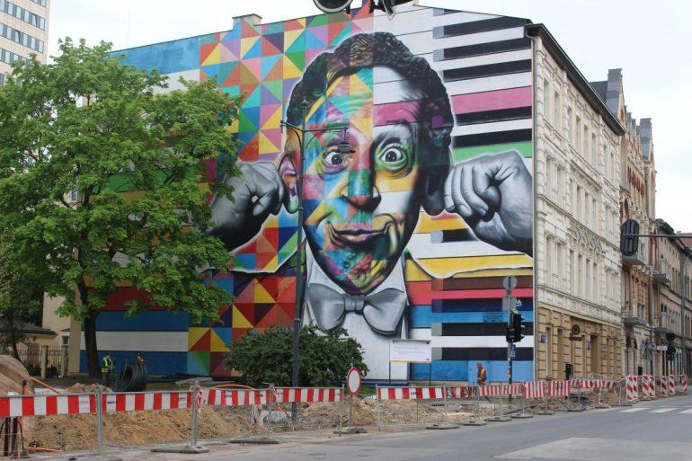Street art Lodz Polen wereldreis