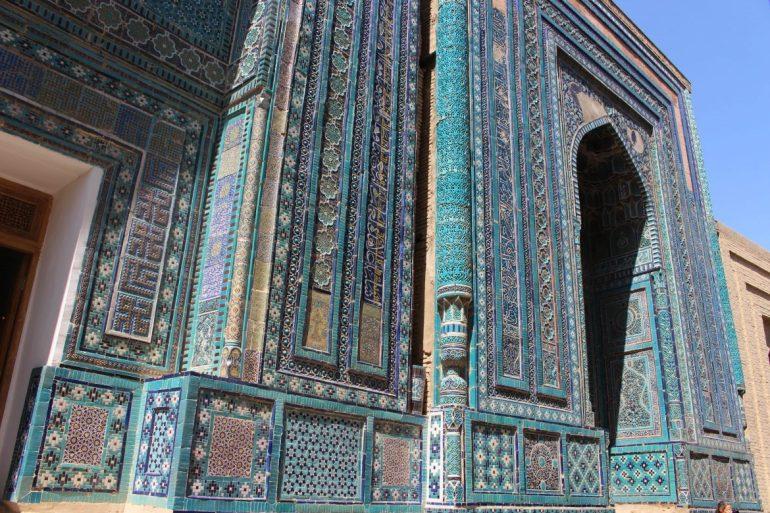 Details Samarkand Uzbekistan wereldreis