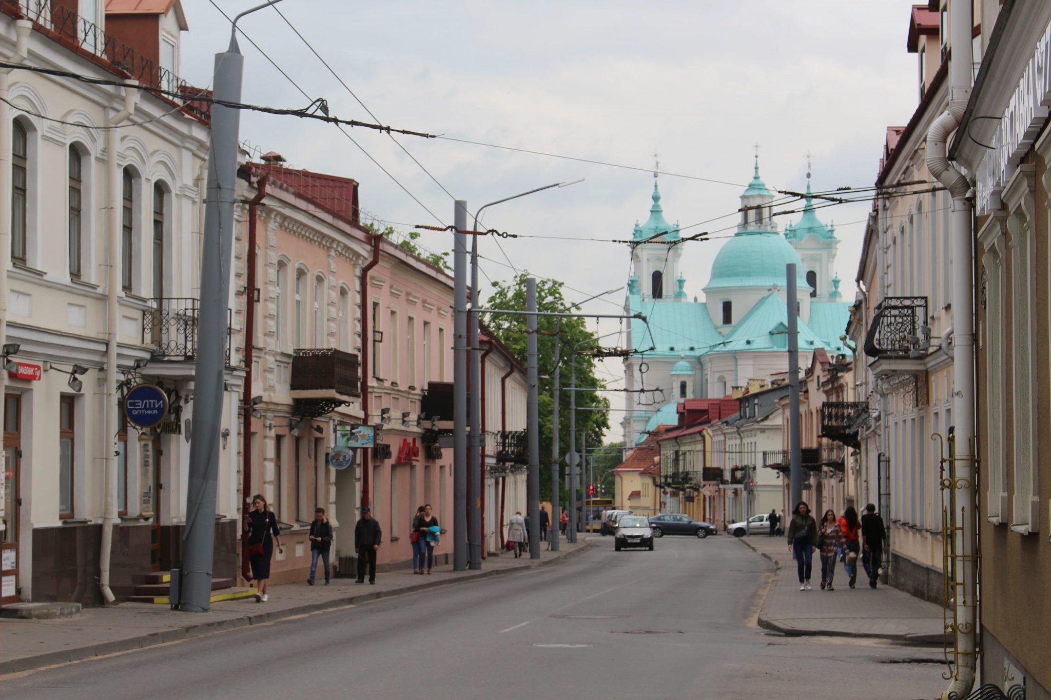 Jesuit Church street Grodno