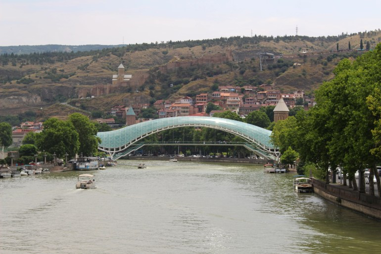 Tbilisi things to do Peace Bridge