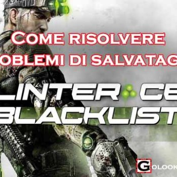 Splinter Cell Blacklist come salvare