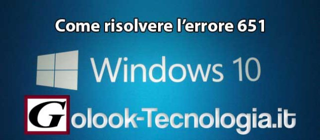 Windows 10 errore 651
