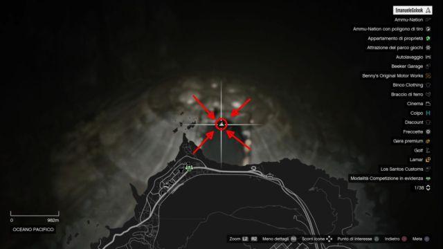 mappa ufo sommerso gta 5 online
